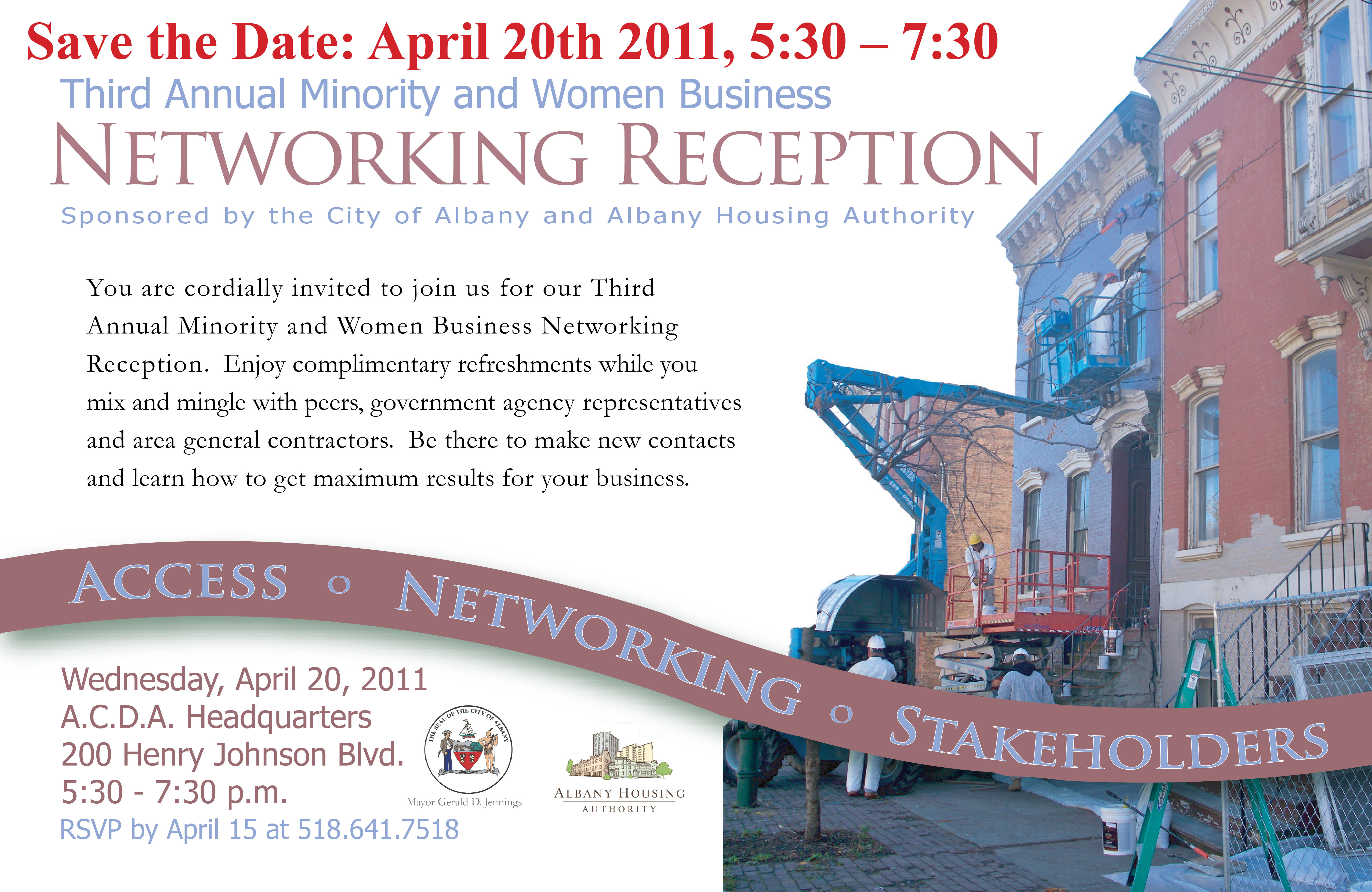 Minority and Women Business Networking Reception Albany Housing