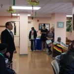 Steve T. Longo – Executive Director speaking with the seniors at the Spring Fling Affair
