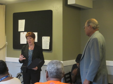 Mayor Sheehan presents Townsend Park Homes residents with Proclamation