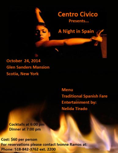 Annual Dinner Flyer, October 24, 2014