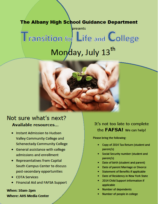 Transition for Life and College
