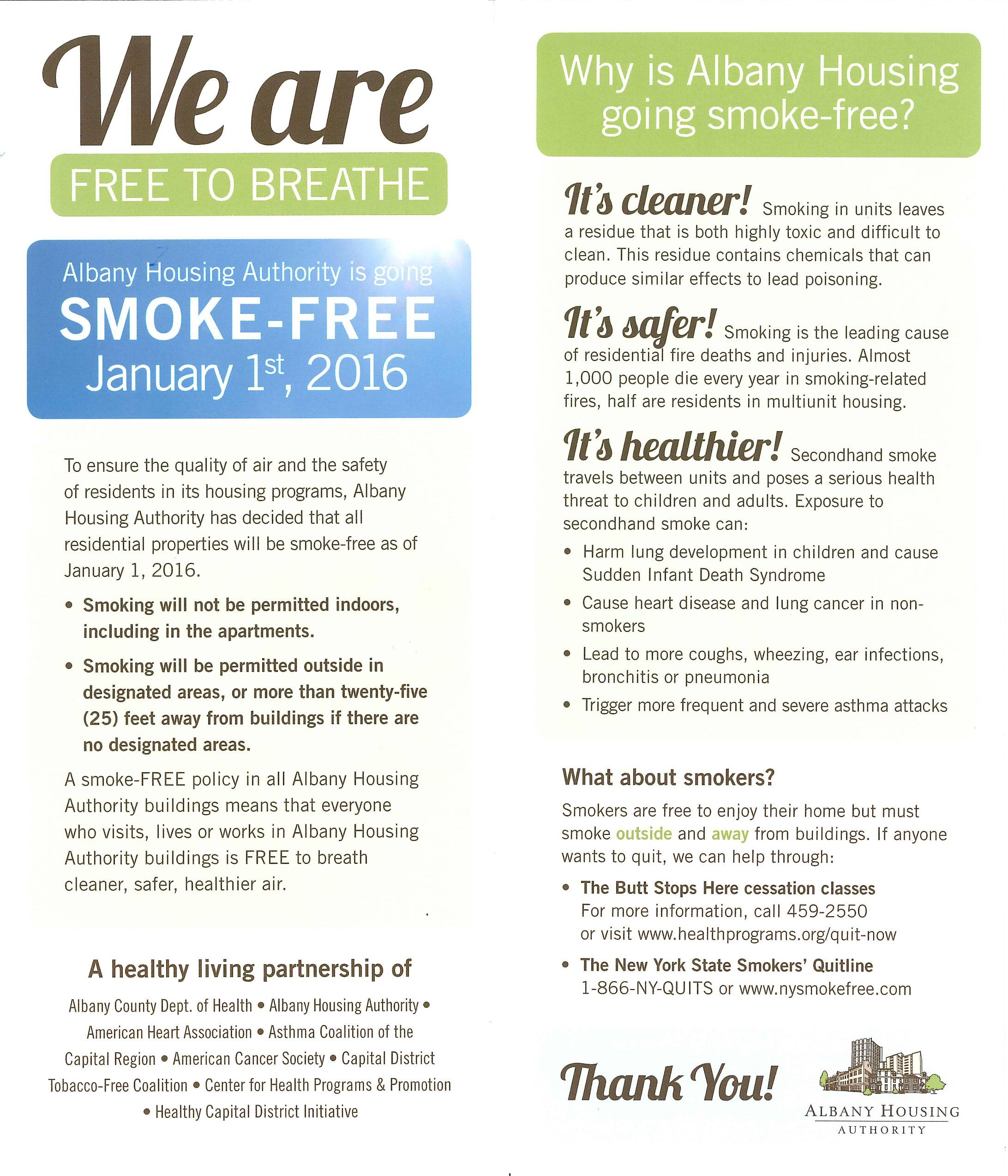 smokefree flyer