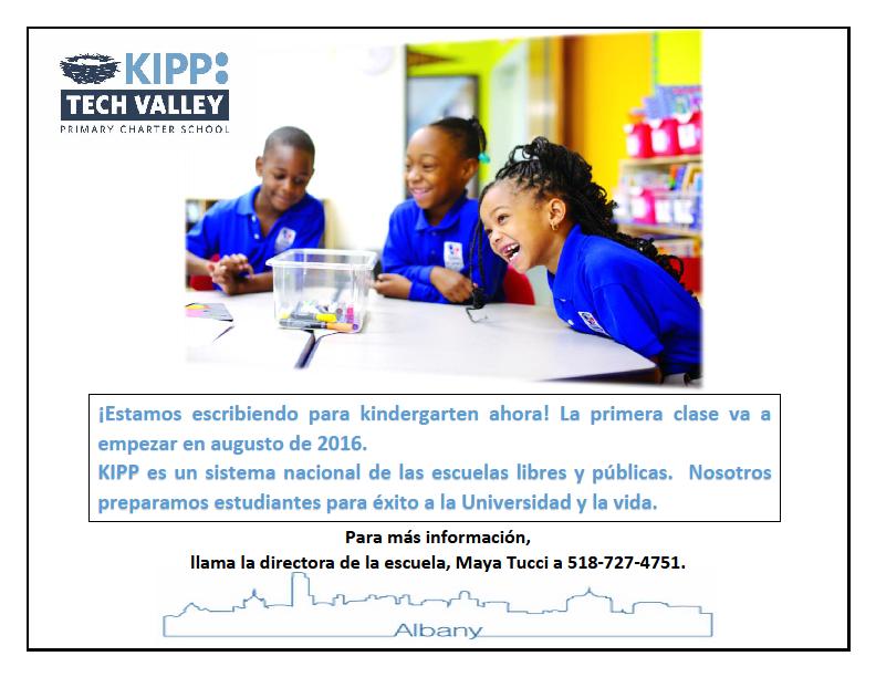 KIPP Tech Valley Primary Charter School Sp