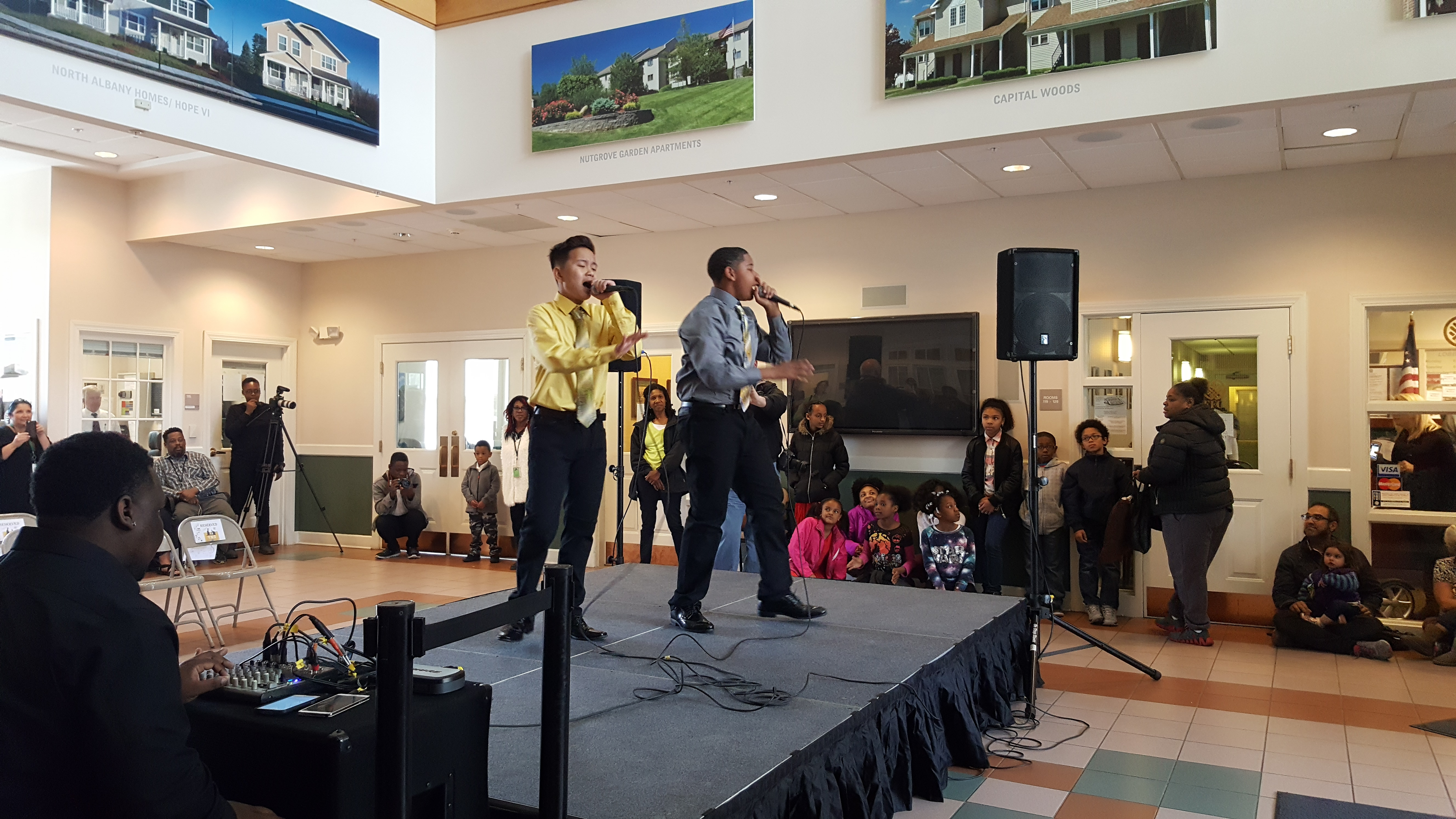 YNG Young Noble Gentlemen Perform at Albany Housing Authority
