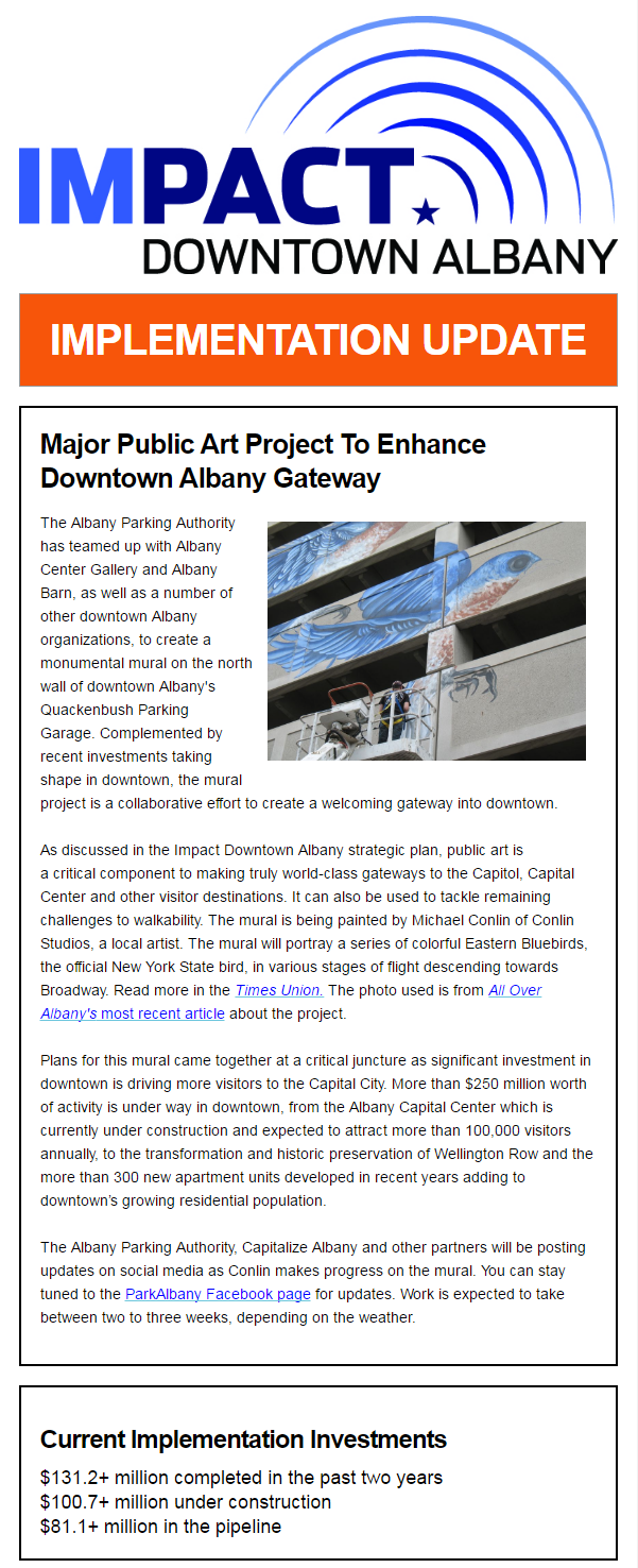 Impact Downtown Albany Update May 23