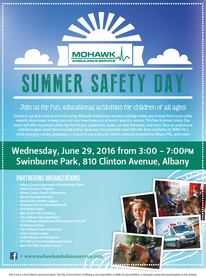 Mohawk Summer Safety Day Flyer