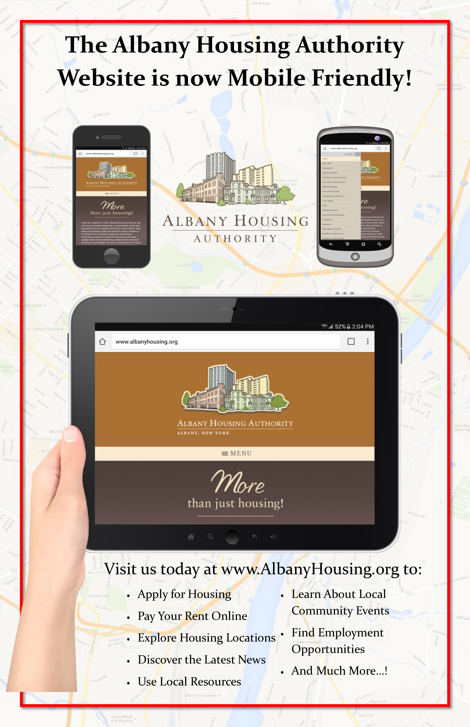 The Albany Housing Authority Website is now Mobile Friendly