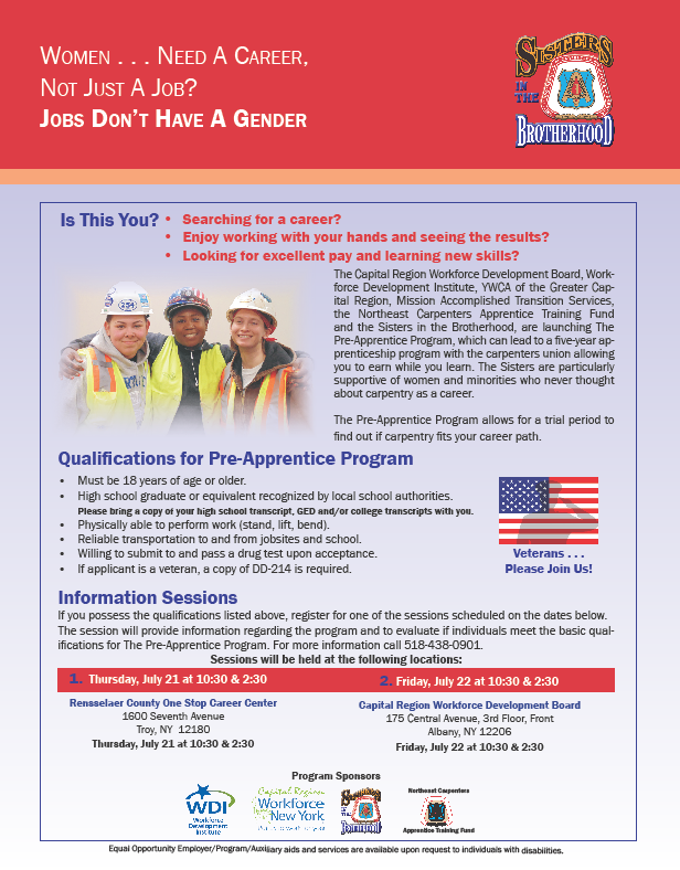 Albany Pre-Apprentice Program for Women