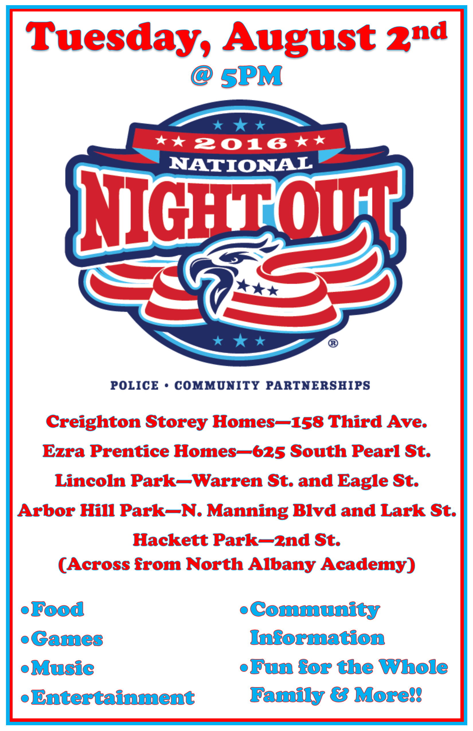 National Night Out 2016 Flyer