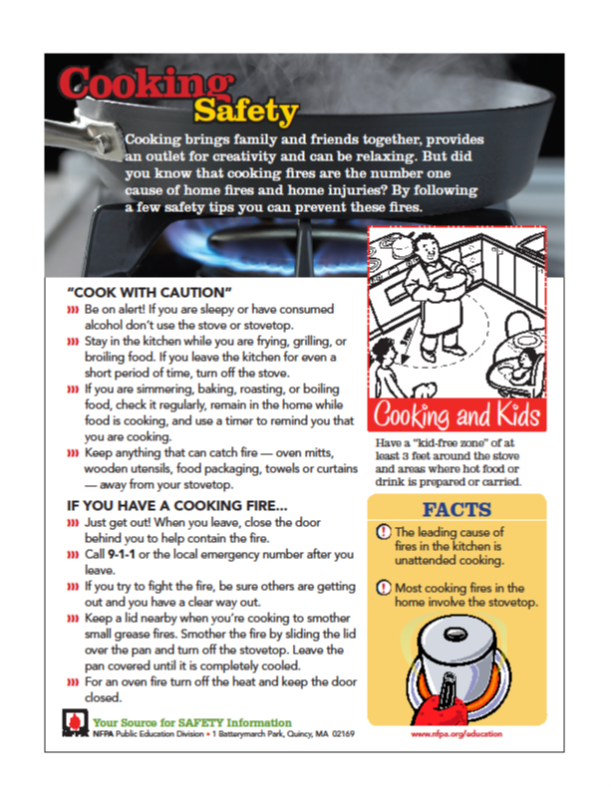 cooking safety 2016