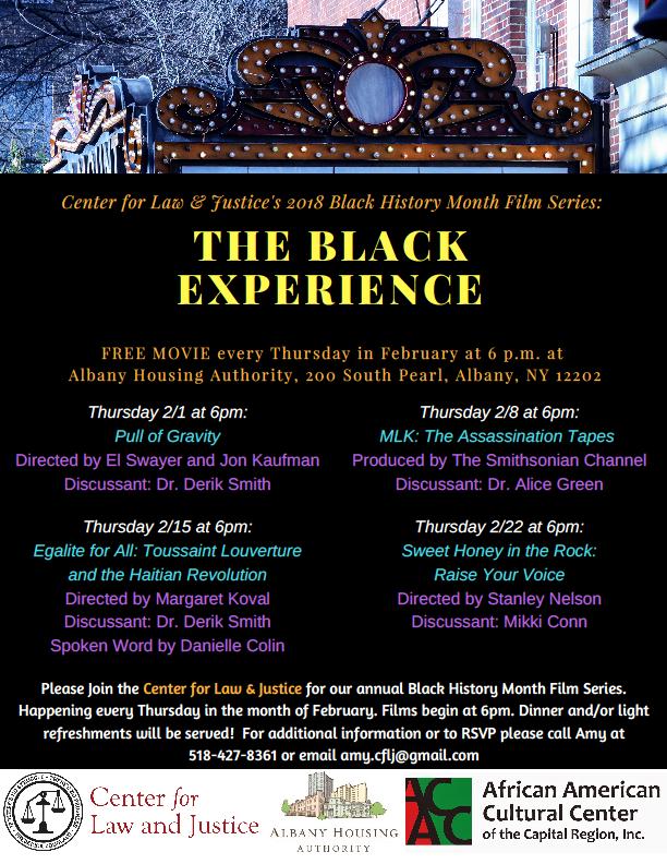 The Black Experience Film Series Flier