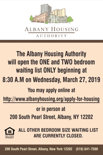 Apply for Housing - Albany Housing Authority News